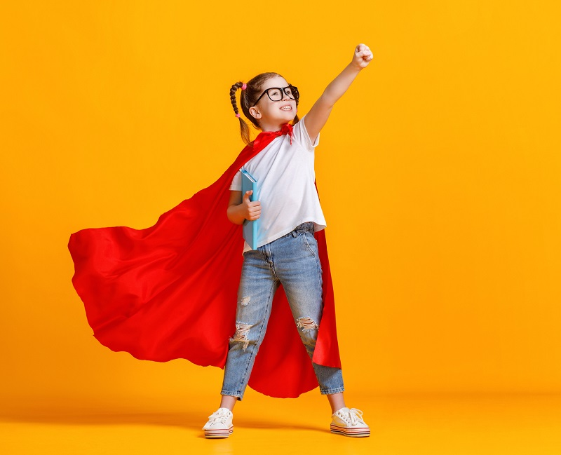Bambina-superwoman